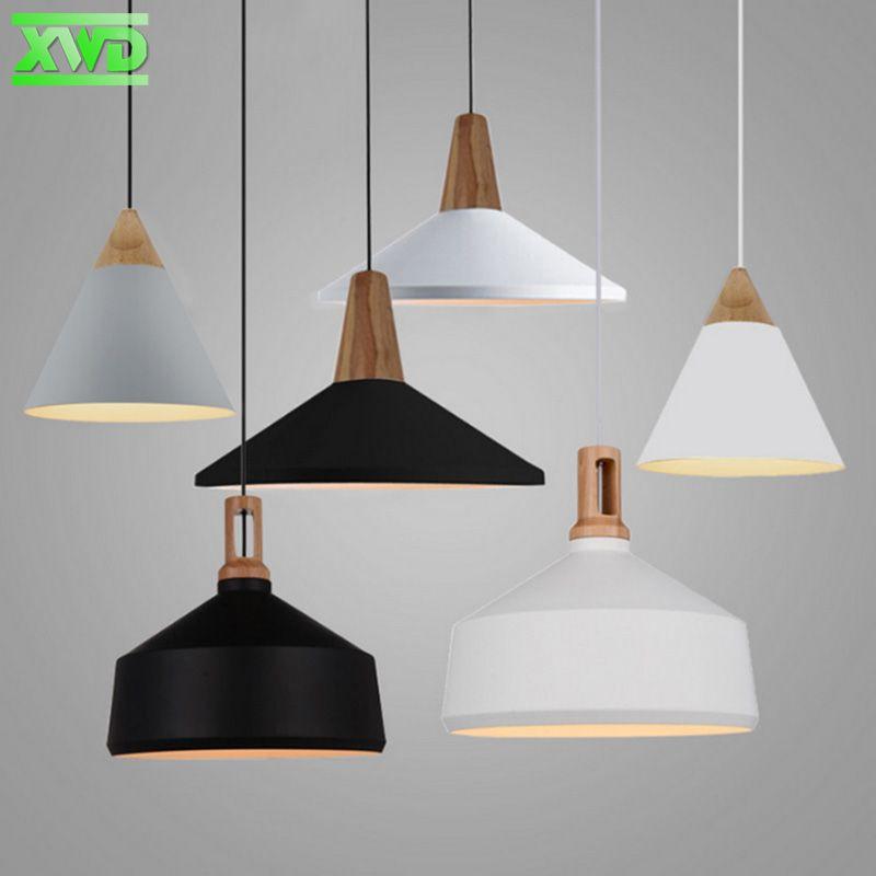 Modern Wooden Aluminum Foyer Pendant Lamp E27 Lamp Holder 110 240v Dining Room Pendant Lights Free Shipping In Pe Wood Pendant Lamps Foyer Pendant Pendant Lamp