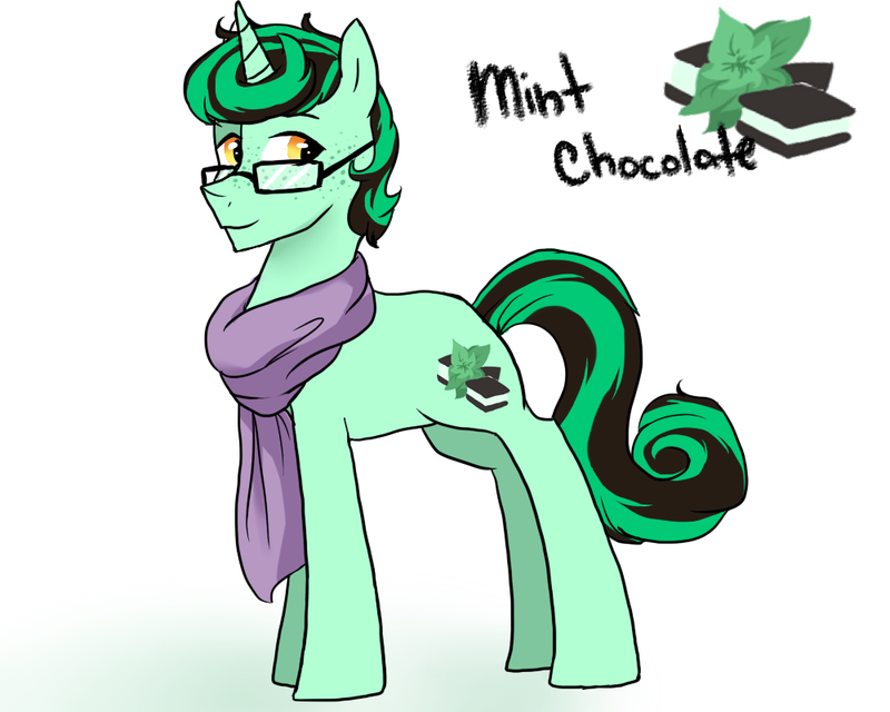 Meet Mint Chocolate! Name: Mint Chocolate Parents: Lyra and Sweetie (BonBon) Drops. Race: Unicorn Siblings: Viola Bio: WIP FunFacts: Mint has a very open crush on Melvin. Mint is very gentle and ki...