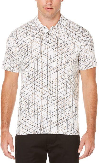 32b3e54a1f28b Perry Ellis Short Sleeve Linear Print Polo