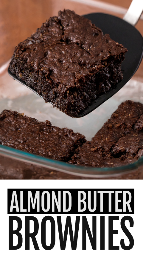 SUPER HEALTHY Almond Butter Brownies Recipe