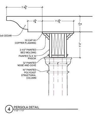 Pergola Beam Detail Drawing