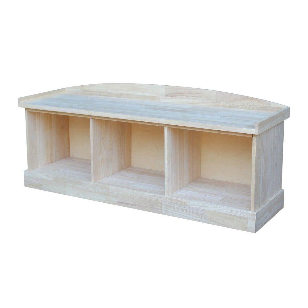 Storage Bench Unfinished International Concepts Bench With Storage Unfinished Furniture Storage Bench Unfinished wood storage bench