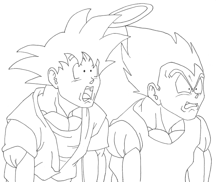 Goku And Vegeta Inside Buu By Osoroshiiyasai On Deviantart Coloring Pages Dragon Ball Z Valentines Day Coloring Page