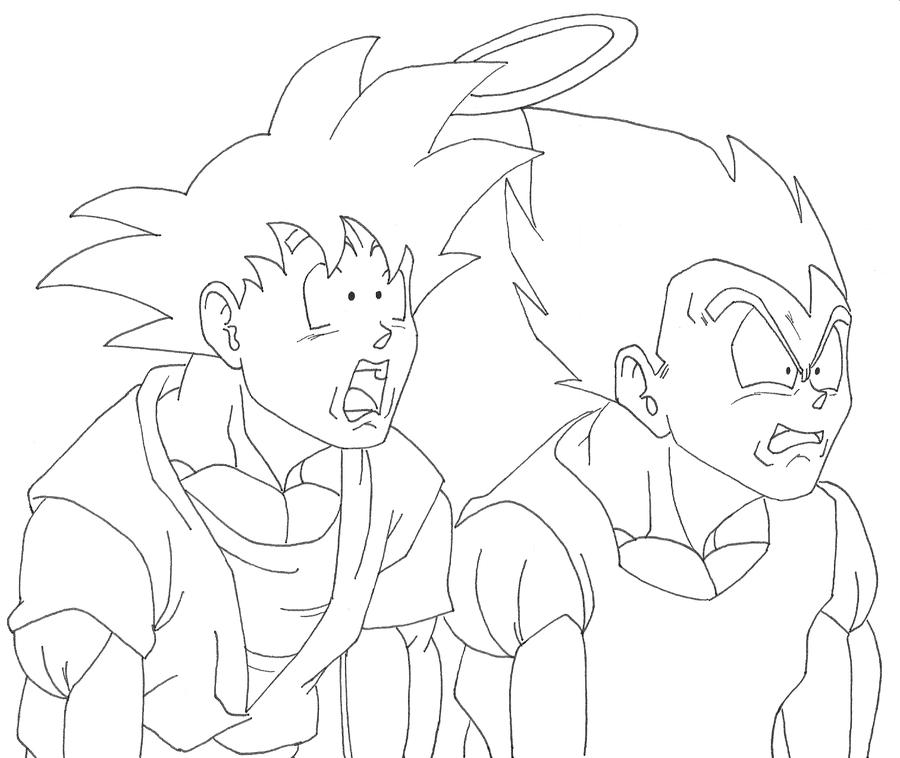 Goku And Vegeta Inside Buu By Osoroshiiyasai On Deviantart Dragon Ball Z Dragon Ball Coloring Pages