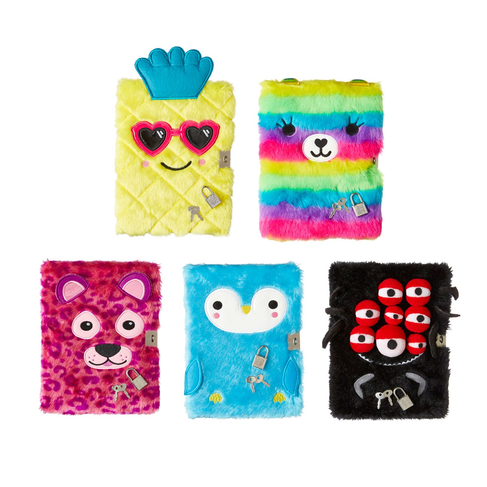 Fluffy friend lockable notebook smiggle uk with images