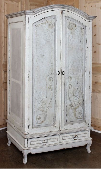 Ordinaire Rustic Dutch Painted Armoire