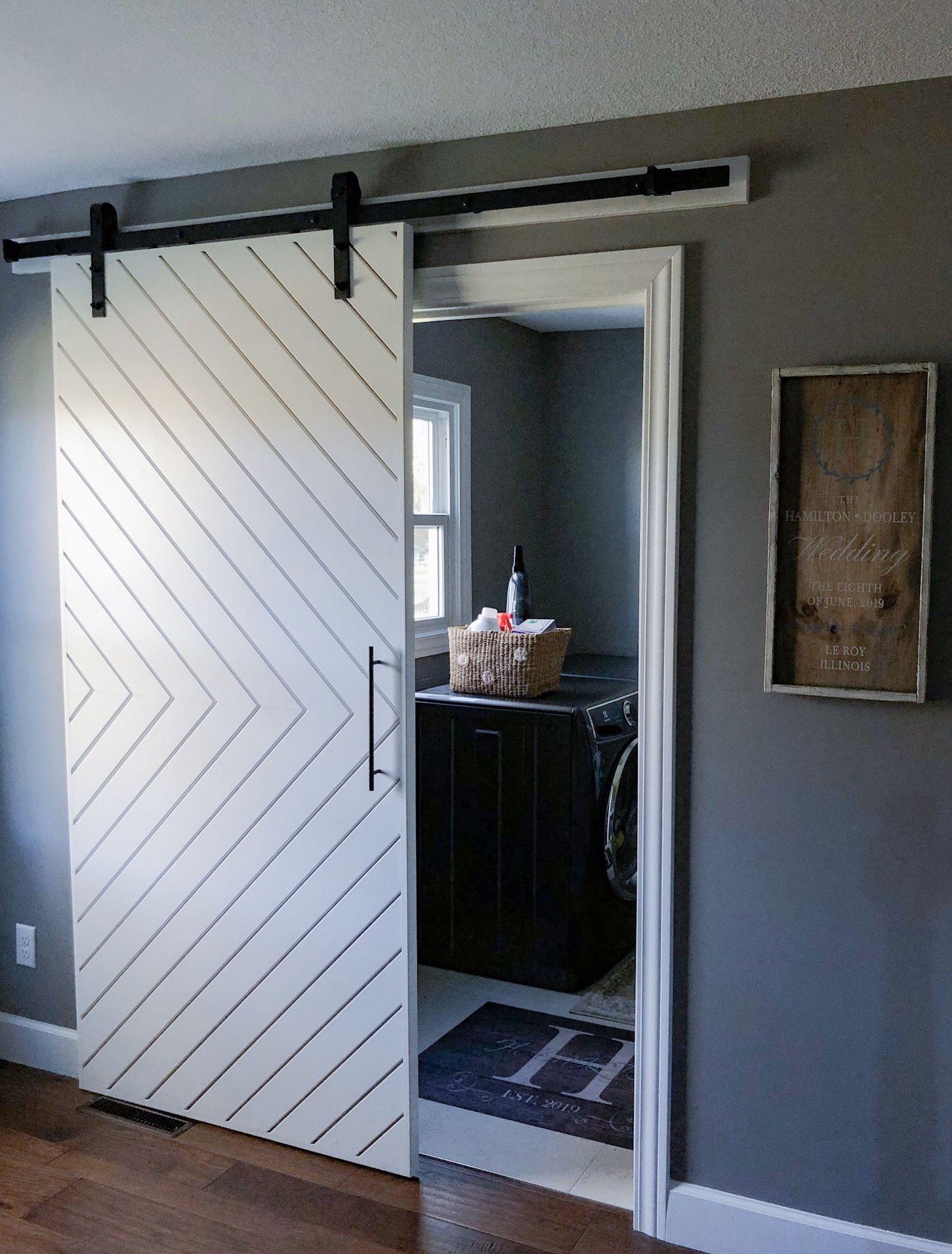 Custom Sliding Barn Doors Chevron Barn Door Decor Barn Doors Sliding Modern Barn Door