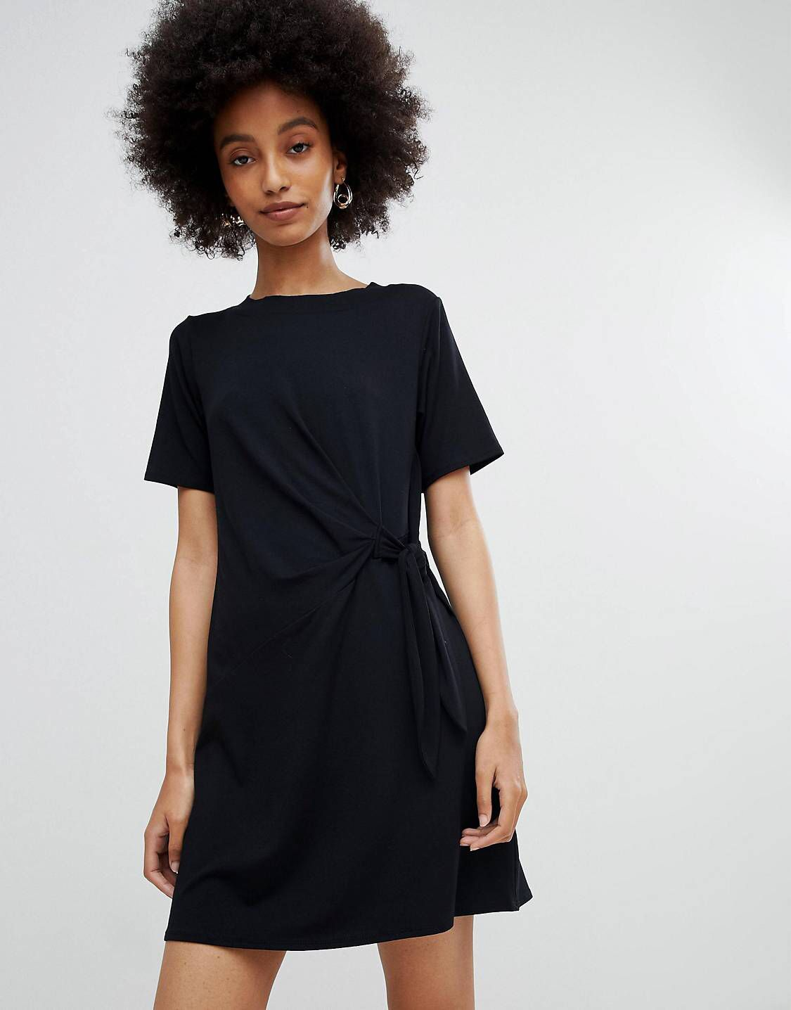 New look black ruched side dress work it pinterest shopping
