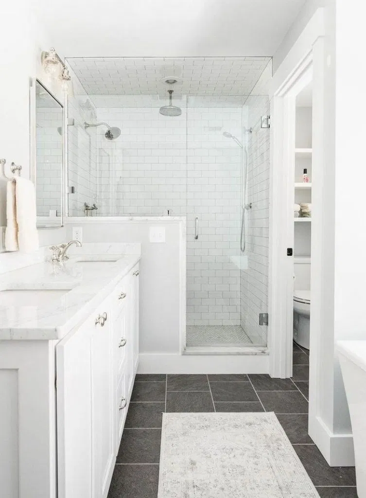 41 minimalist small bathroom ideas feel the big space! 1 | Home Design Ideas