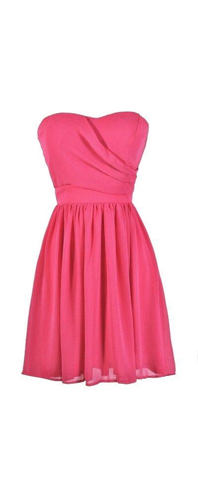 vestido straples rosa oscuro corto | Me visto | Pinterest | Oscuro ...