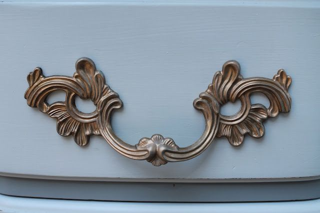 Elizabeth & Co.: French Gray Curves, Brass Hardware and a Few Smelly Drawers