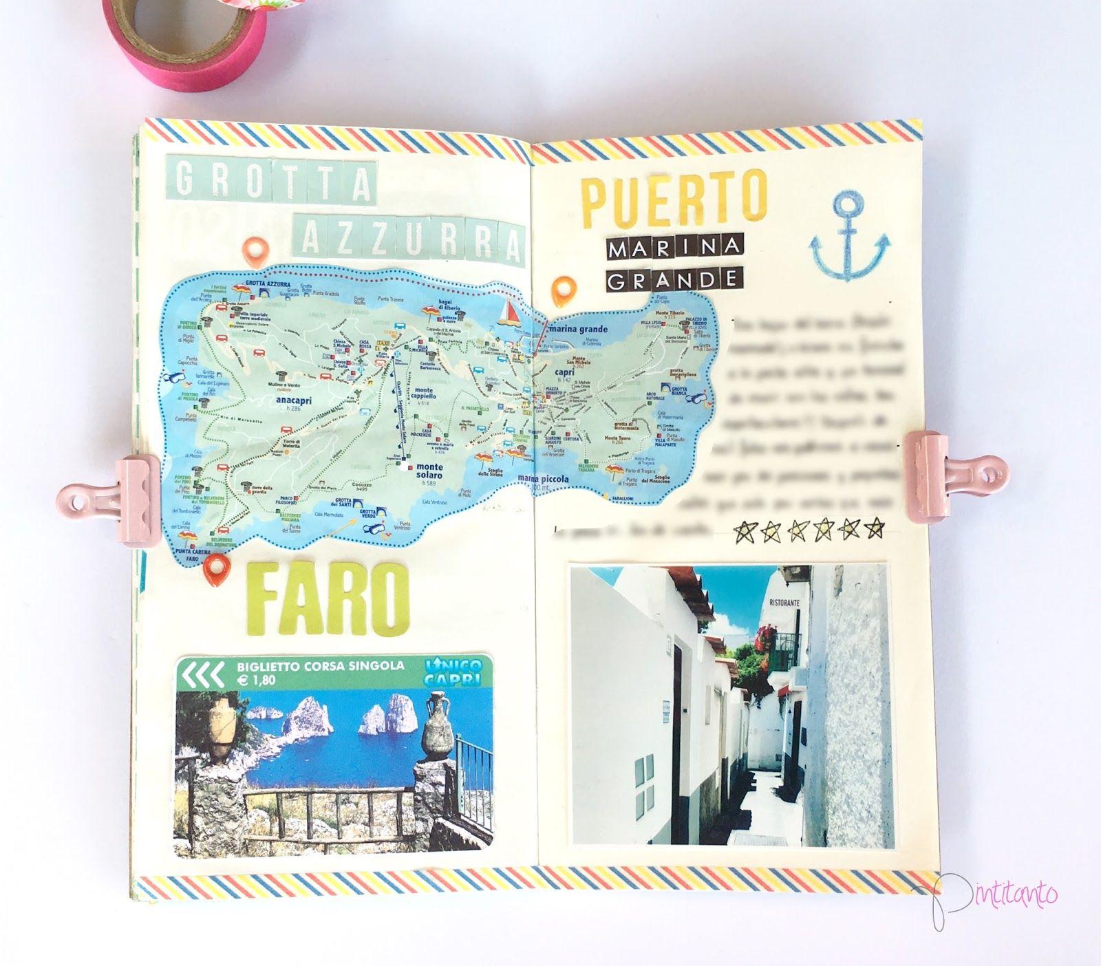 En la última página, de nuevo, he utilizado un mapa de la isla y he remarcado los puntos más importantes.