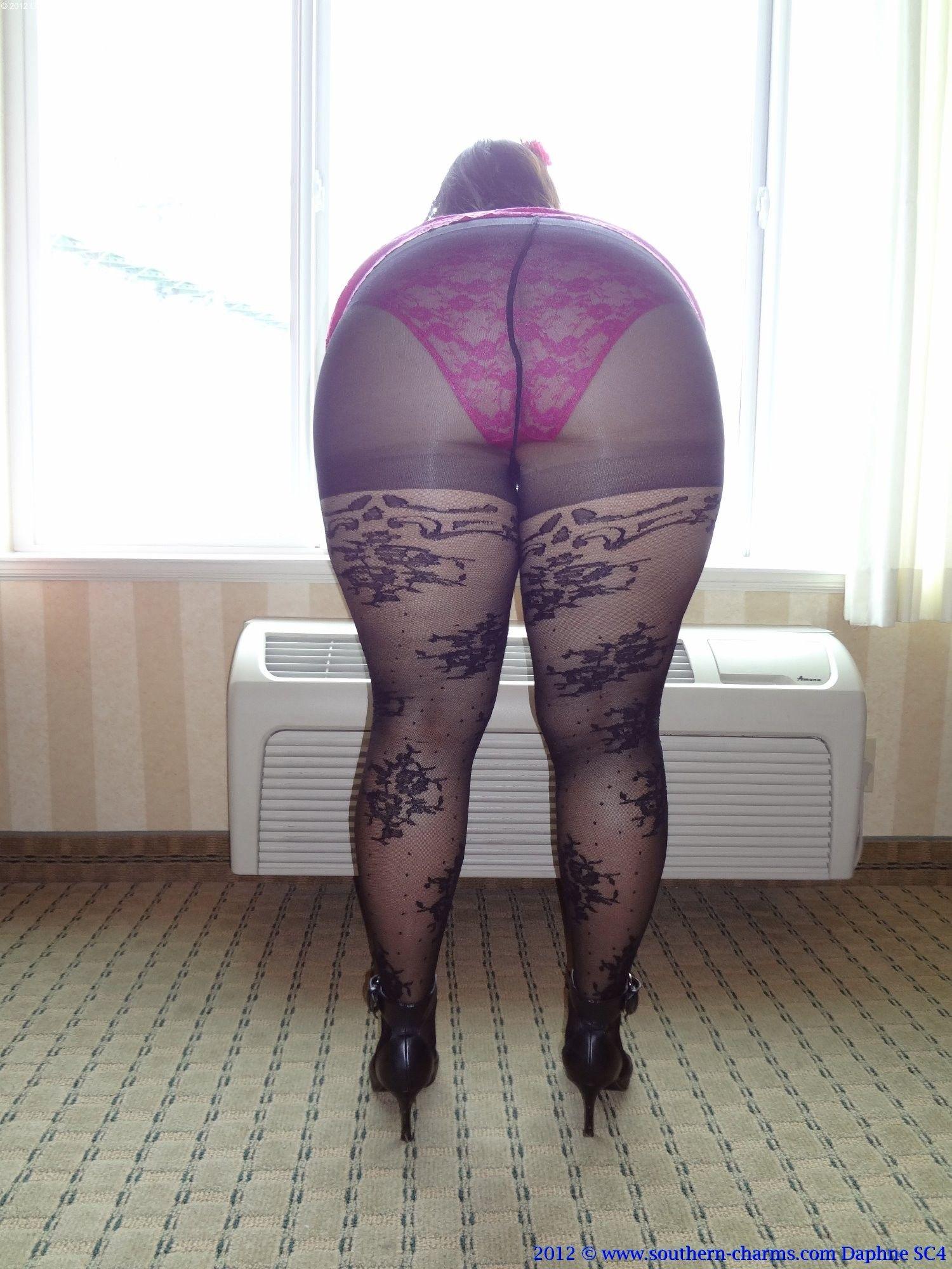 Sexy BBW Beine und Strumpfhosen