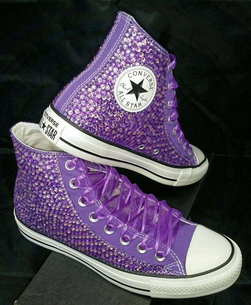 Full Bling Bridal Converse- Wedding Converse- Bling   Pearls Custom  Converse Sneakers- Personalized Chuck Taylors- AllStar Converse Sneakers by  ... 3e0da4b2c