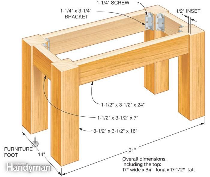 How To Build A Table With A Concrete Top Planos De Moveis