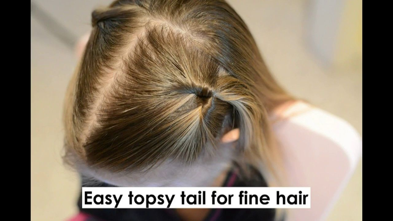 topsy tail pigtails - easy hairstyle for fine toddler hair