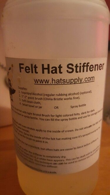 Craft Millinery DIY Water-based Hat Stiffener CM Extra Strength