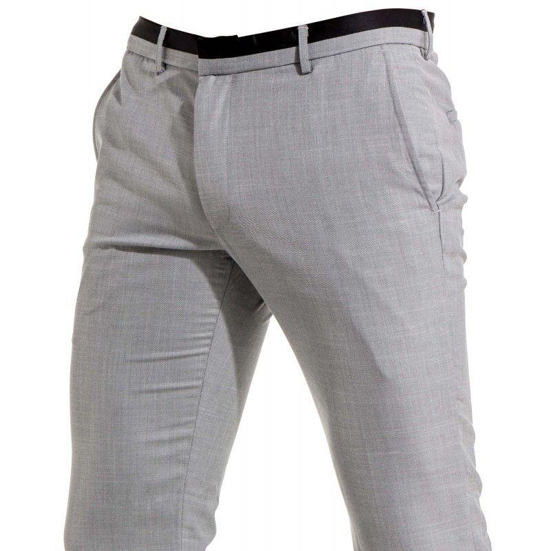 Pantalon homme gris clair de costume