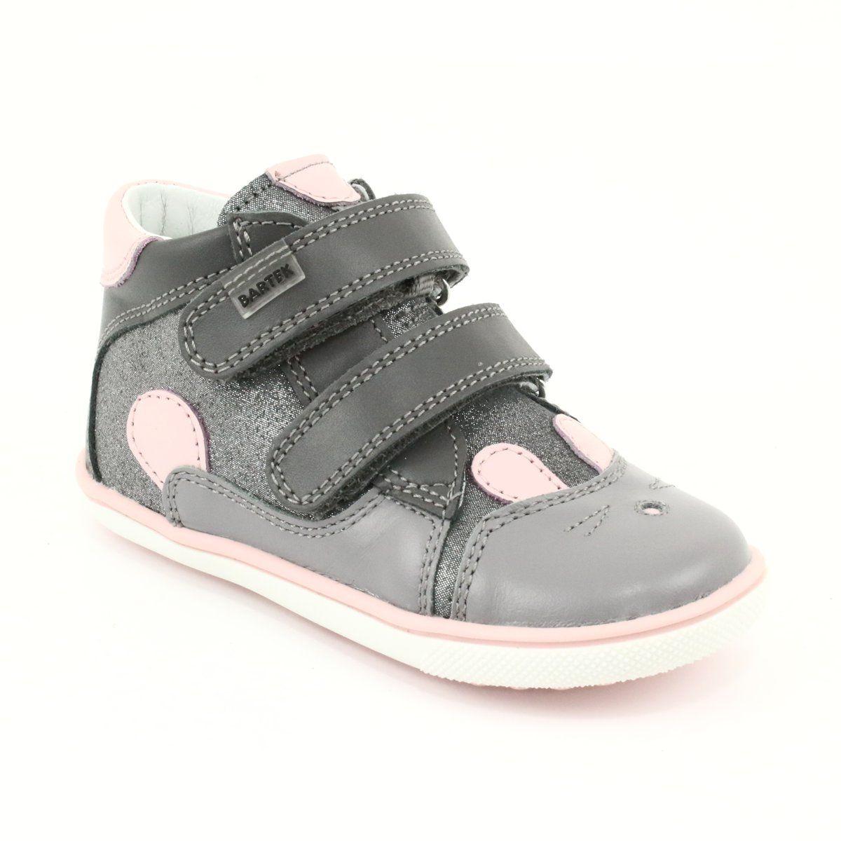 Trzewiki Na Rzepy Krolik Bartek 11702 Rozowe Szare Baby Shoes Wedge Sneaker Shoes
