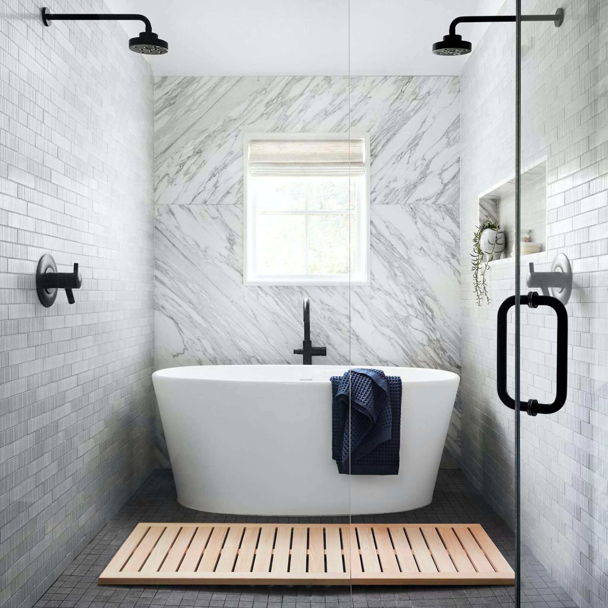 You Want A Wood Bath Mat Bathroom Interior Design Bathroom Interior Bathroom Design