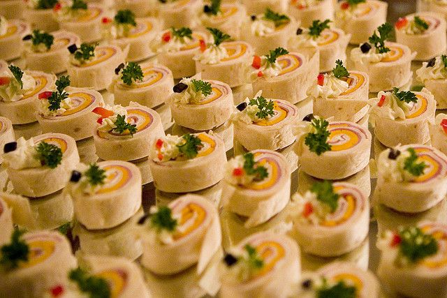 Elegant Wedding Appetizer Ideas: Pinwheels Are An Easy Appetizer For Your Wedding, But Can