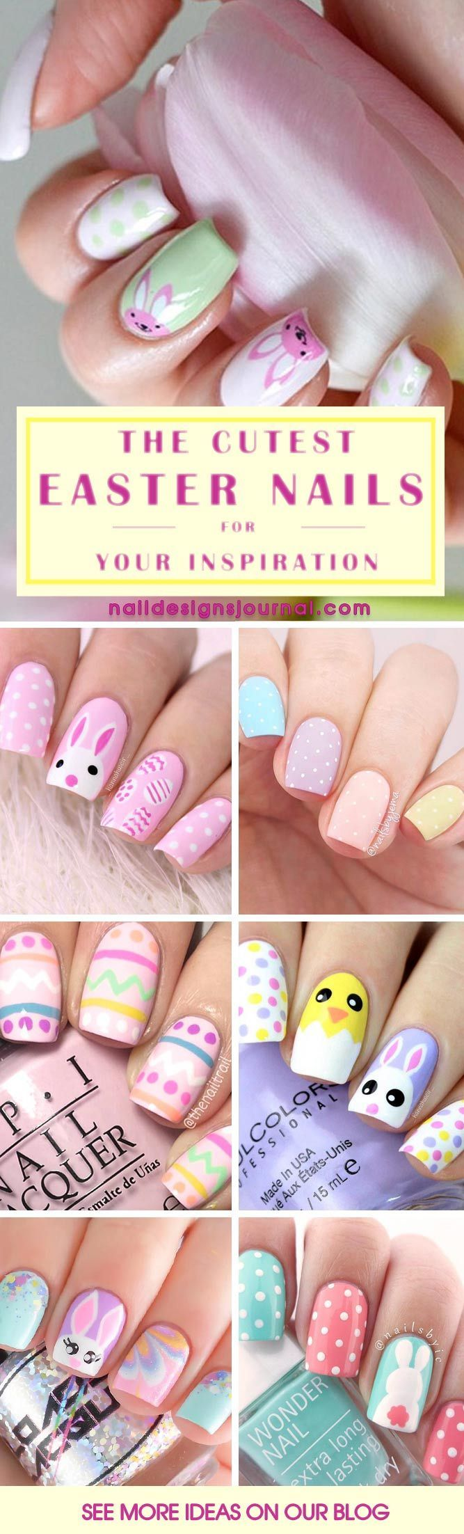 40 Amazing Designs Of Easter Nails For Your Inspiration | Easter ...