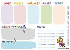 Imprimible To Do List de tareas semanales: http://cortarcoserycrear.blogspot.com/2013/06/freebies-to-do-list-semanal.html