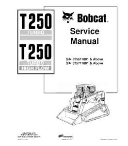 Best download bobcat t250 compact track loader service
