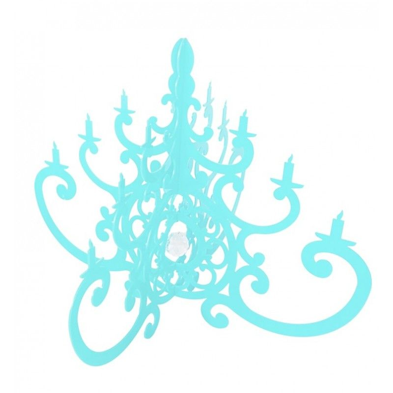 Turquoise Decorative Acrylic Chandelier