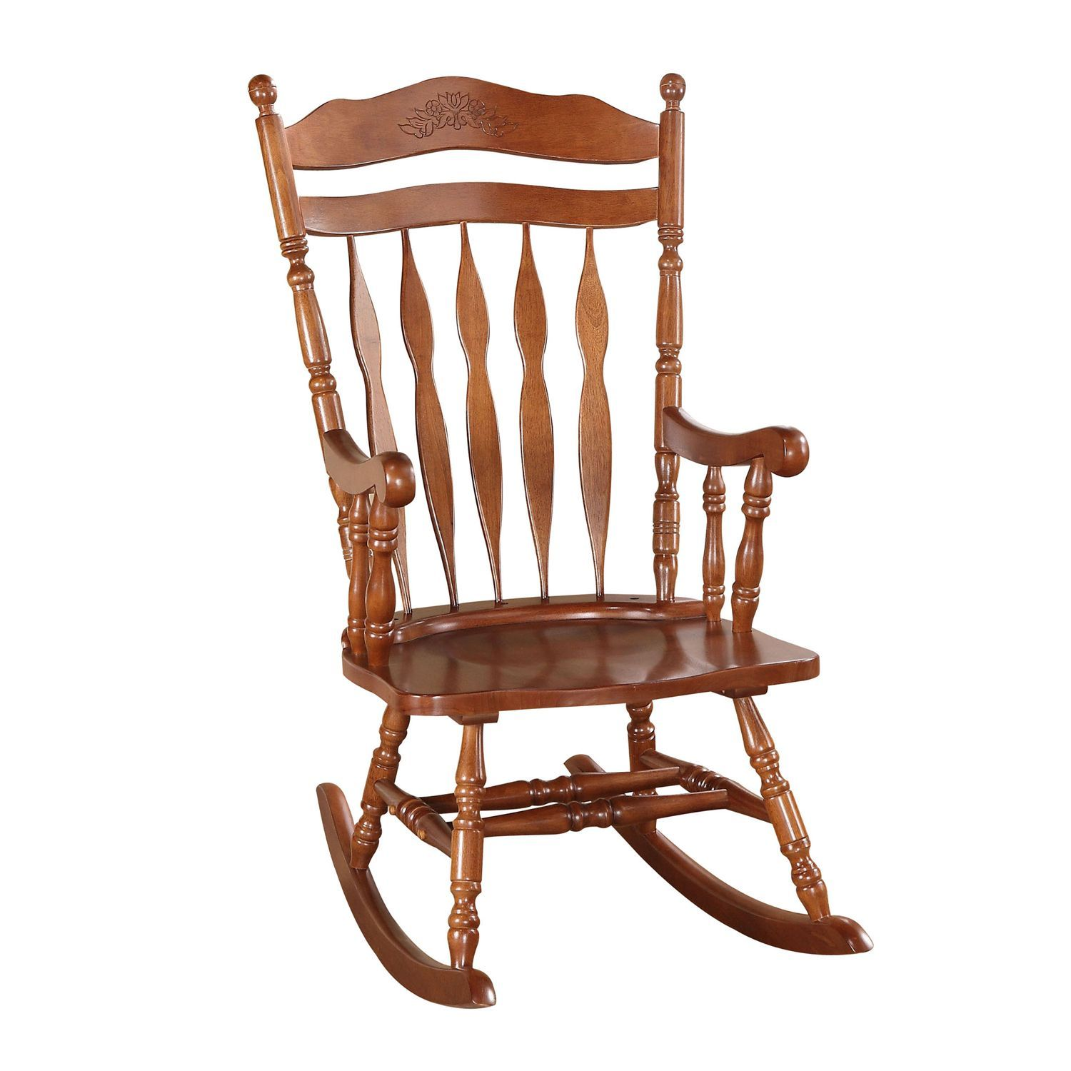 Dark Walnut Rocking Chair Rocking chair, Chair, Wooden