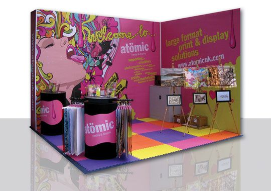 Exhibition Stand Graphic : Shell scheme graphics from £ per drop exhibition