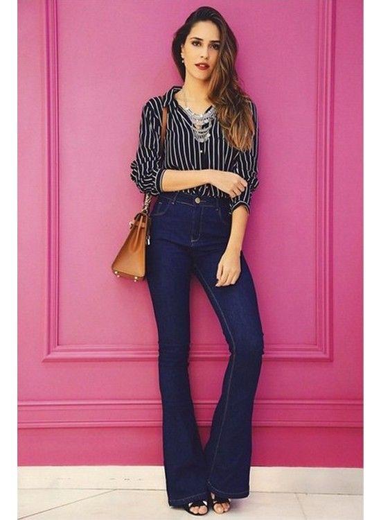 f0ff3c2e0b Calça Flare Jeans Escura, Calça Jeans Flare, Jeans Escuro, Jeans Azuis, Calça  Flare Cintura Alta, Calça Jeans Cintura Alta, Looks Com Calça Flare, ...