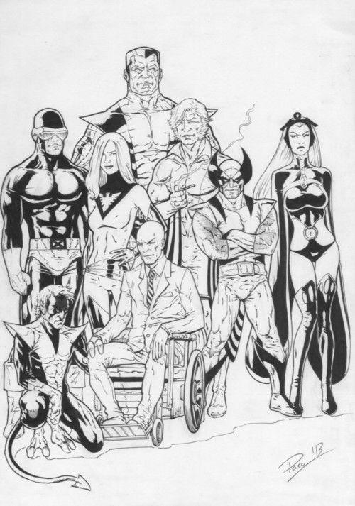 Paco Baidal Cyclops Phoenix Banshee Wolverine Storm Colossus Nightcrawler Xavier X Men X Men Wolverine And Storm Nightcrawler