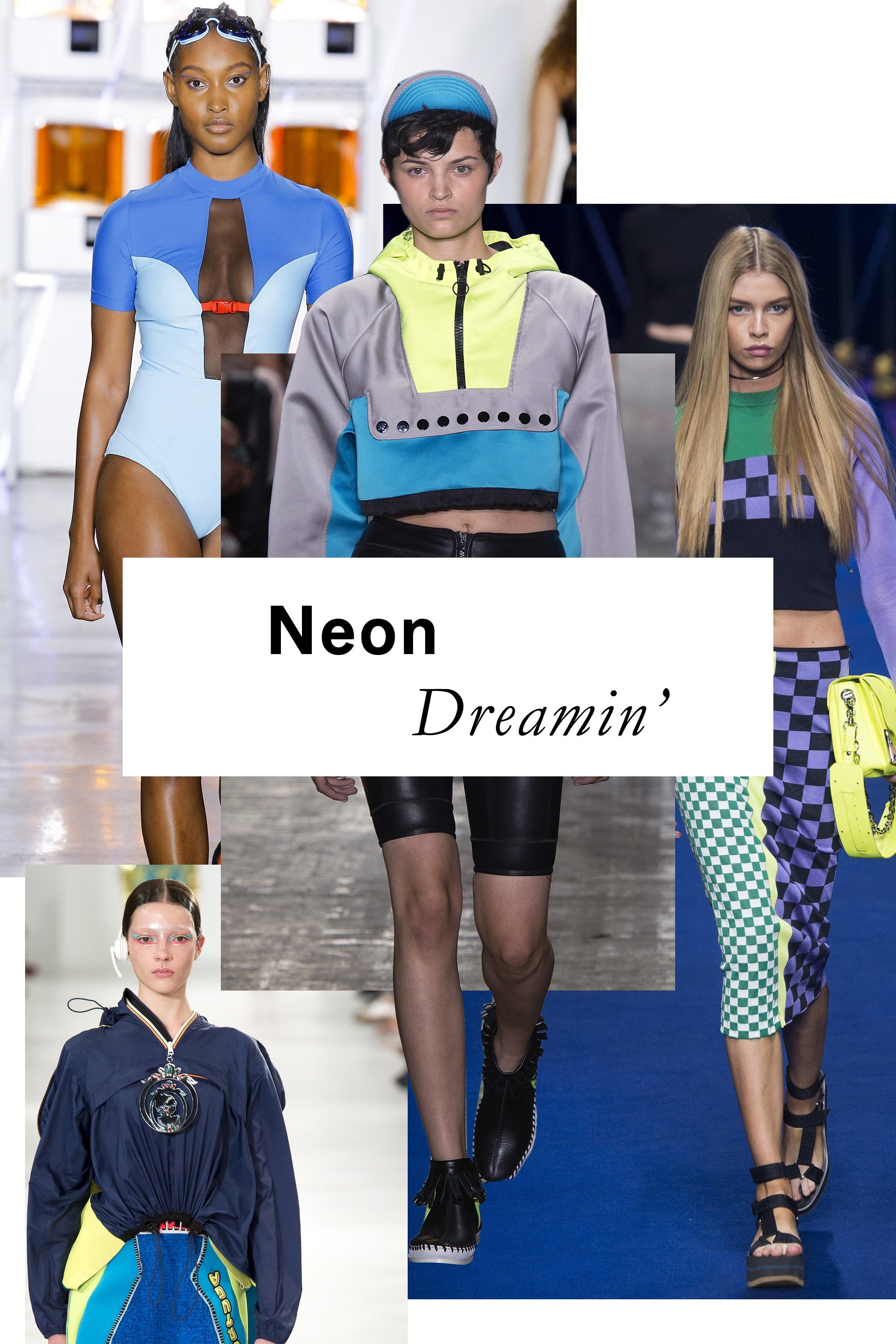 Athleisure may or may not be on its way out, but there's no ignoring the sporty, fluoro hues on runways from Versace to Alexander Wang.