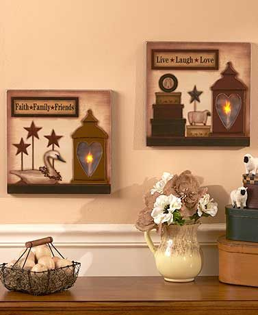 Add a warm, inviting touch to your home with this Lighted Country ...