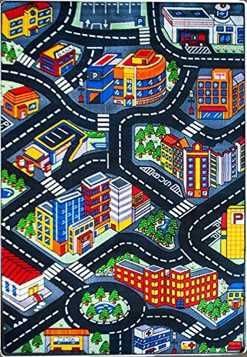 Kids Rug 3d City Map 5 X 7 Childrens Area Street Map Non