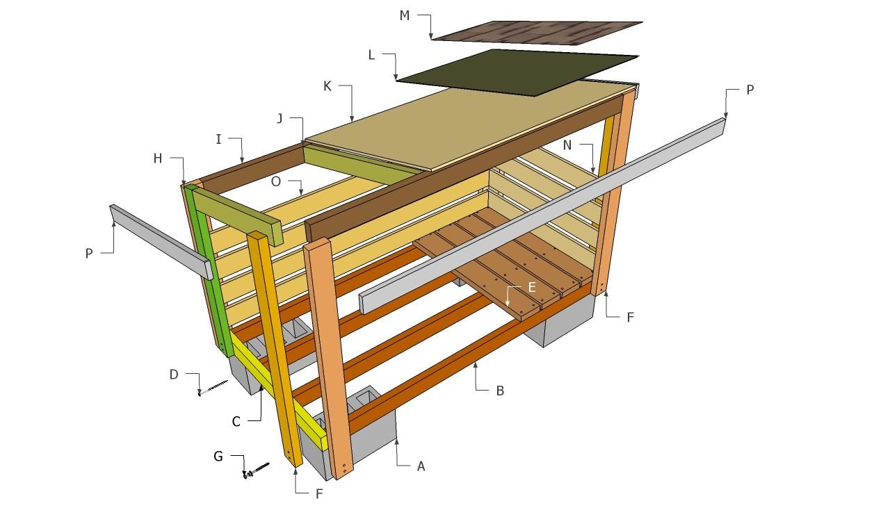 Firewood Shed Plans | Free Outdoor Plans   DIY Shed, Wooden Playhouse, Bbq,
