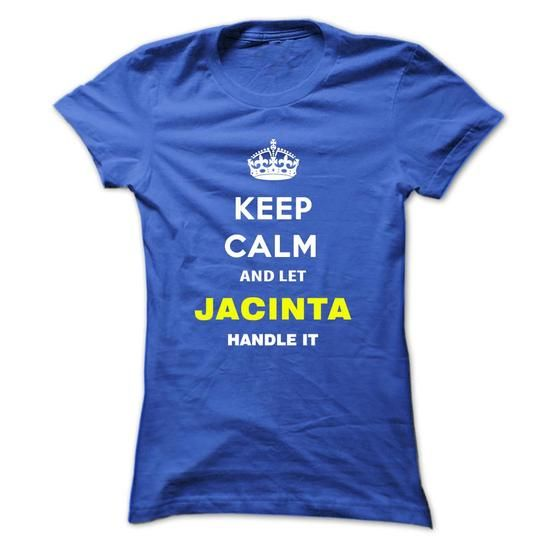 Keep Calm And Let Jacinta Handle It - #cool tee #under armour hoodie. LIMITED TIME => https://www.sunfrog.com/Names/Keep-Calm-And-Let-Jacinta-Handle-It-lxorp-Ladies.html?68278