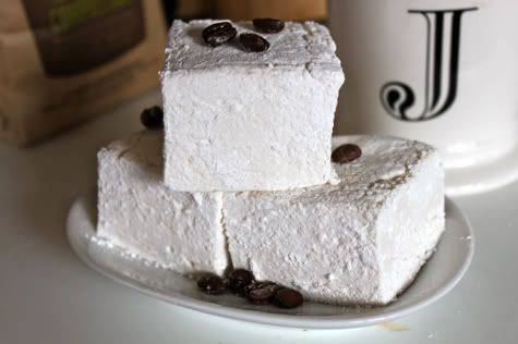 Homemade Coffee Marshmallows #flavoredmarshmallows