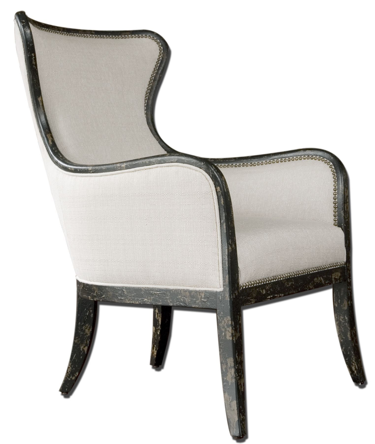 Awesome White Accent Chairs Under 200 With Inspiring Black Wood