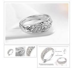 #ring #fashion #jewelry Genuine Austria Crystals #onlineshopping http://bit.ly/1QTd2LH