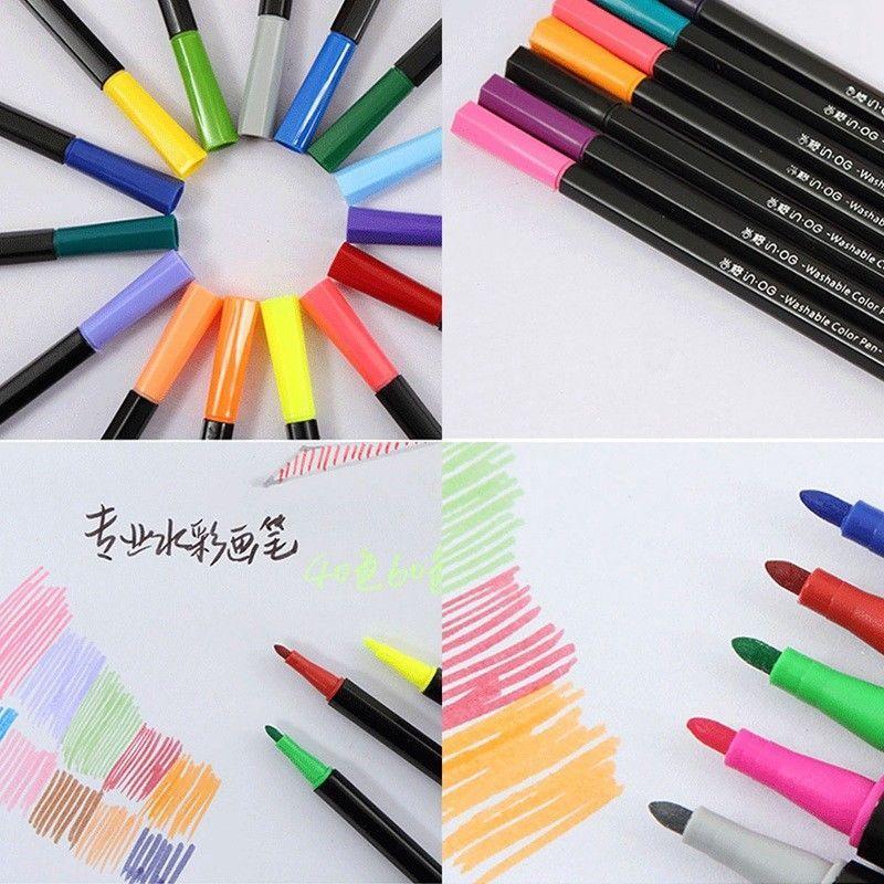 40 Colors Premium Painting Pen Watercolor Markers Pen Effect Best