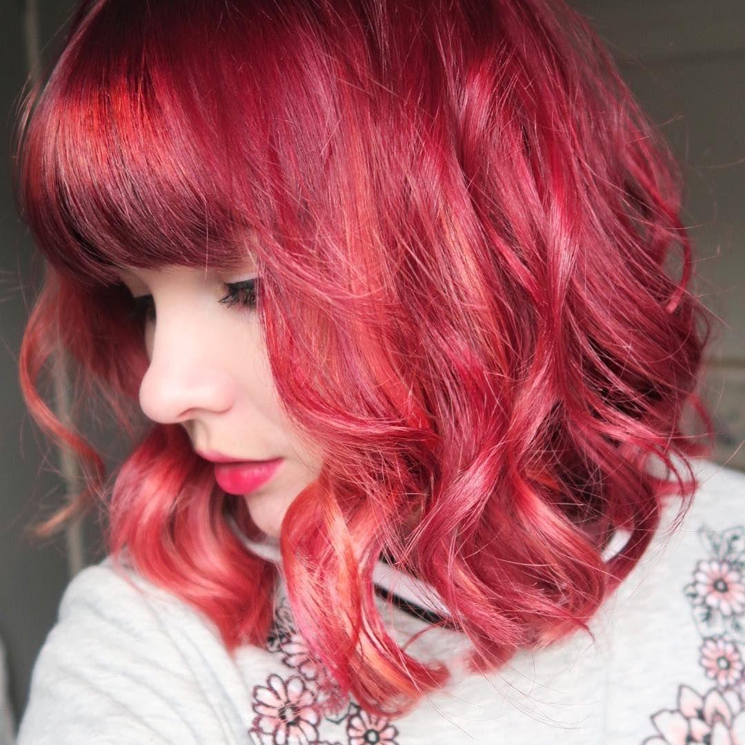 Paigejoannaa u love my new hair hair pinkhair redhair