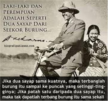 Soekarno Bersama Fatmawati Tokoh Pahlawan Nasional Kutipan