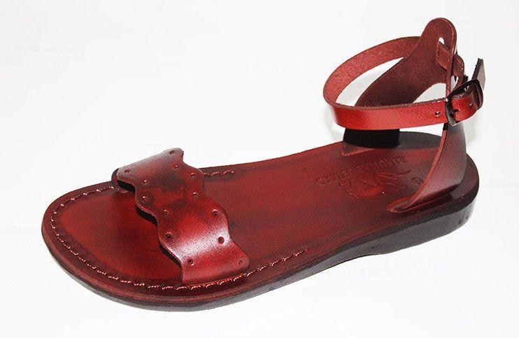 9737cf9607d8e2 Adjustable Ankle Front wide Strap Handmade Leather Sandals- Sigal ...