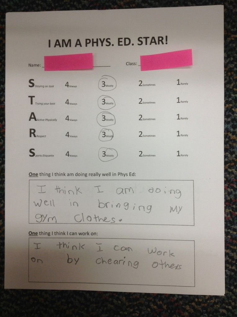 Great Self assessment- incorporating writing goal setting Use - self assessment form