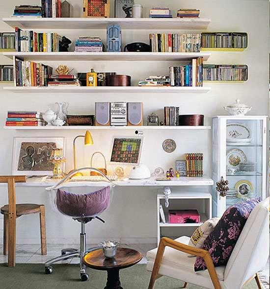 C mo decorar una zona de trabajo en casa librero - Como decorar un estudio pequeno ...