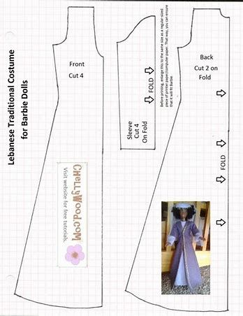 Image result for Barbie Clothes Patterns Free Printable | boneca ...