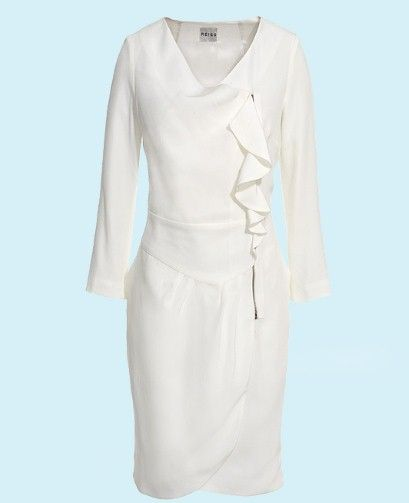 Kate's white side-zipped dress from Reiss, Spring/Summer 2011 Collection