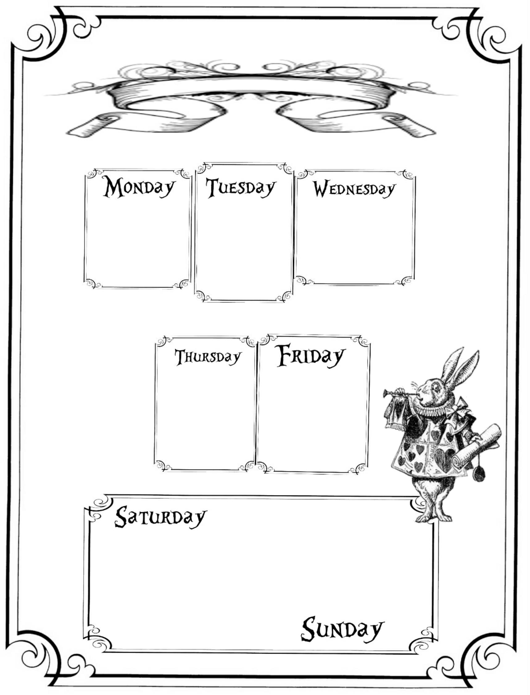 Alice in Wonderland : Free Planner Printables   Alice, Planners ...